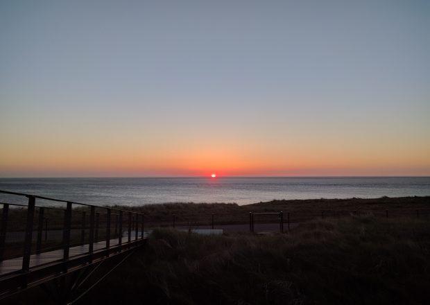 zonsondergang fort kijkduin